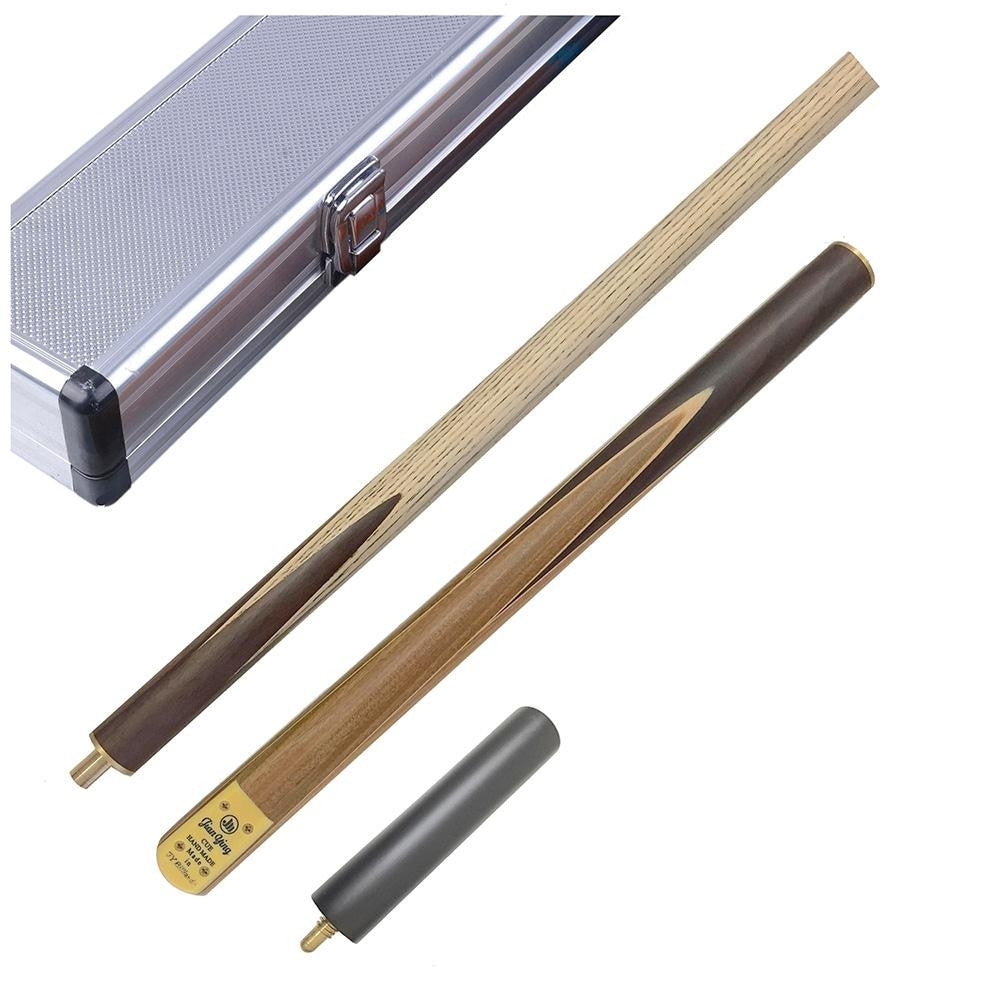 3/4 Handmade Ash shaft Snooker Cue with Mini Extension & Case