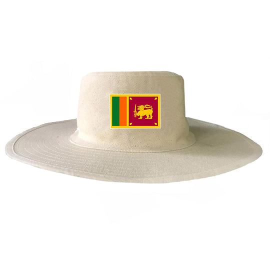 Cricket Fan's Country Flag Wide Brim Sun Hat