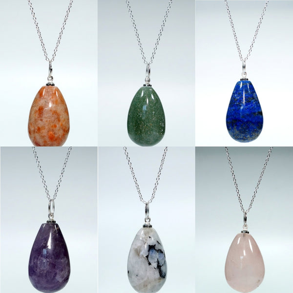 Raindrop Crystal Pendant Necklace