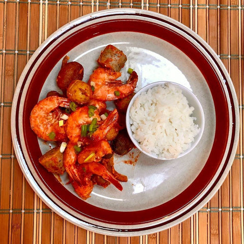 Shrimp in Orange Chicken Sauce