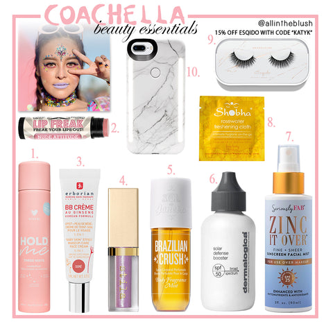Coachella Beauty Essentials 2018