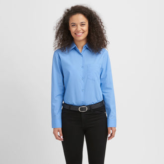 Basic Easy-Care Bluse langarm