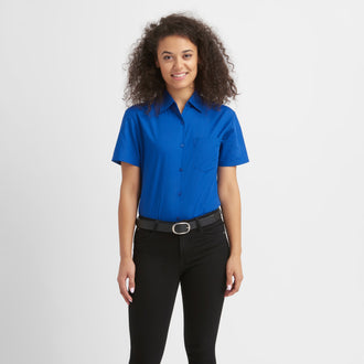 Basic Easy-Care Bluse kurzarm