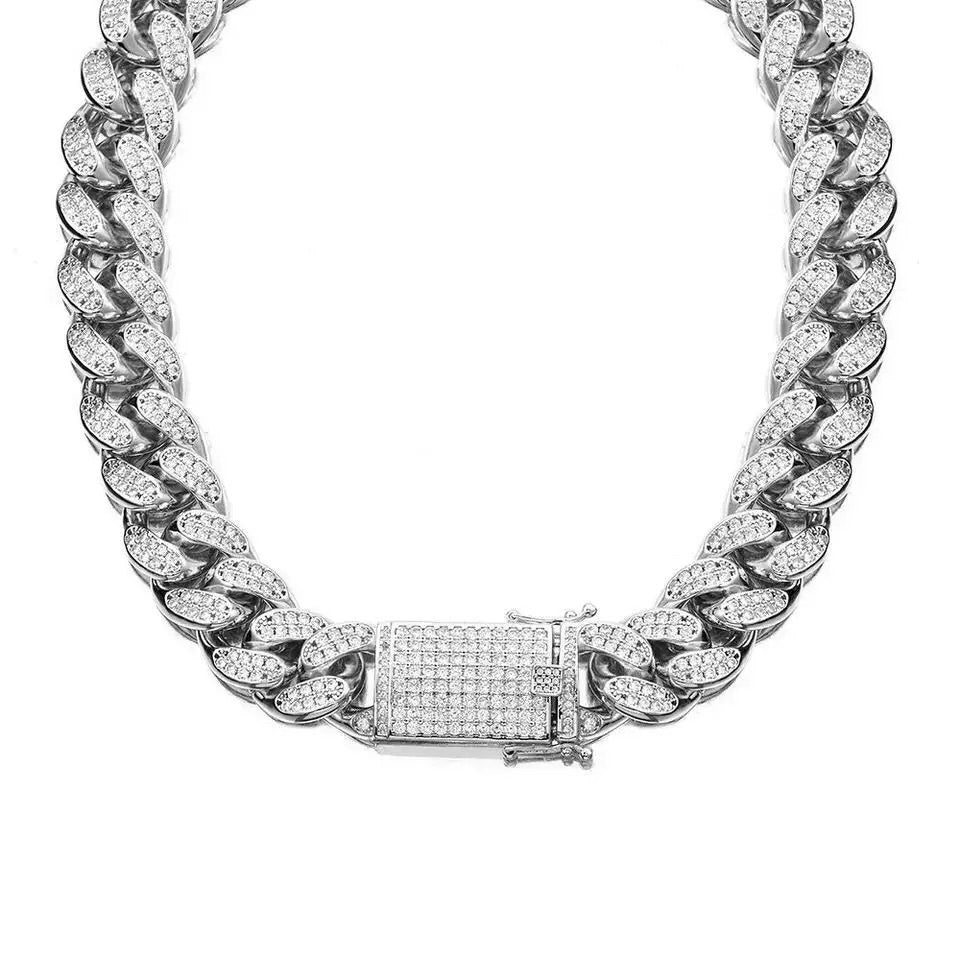 "SD 925 16"" Cuban Links Chain Necklace"