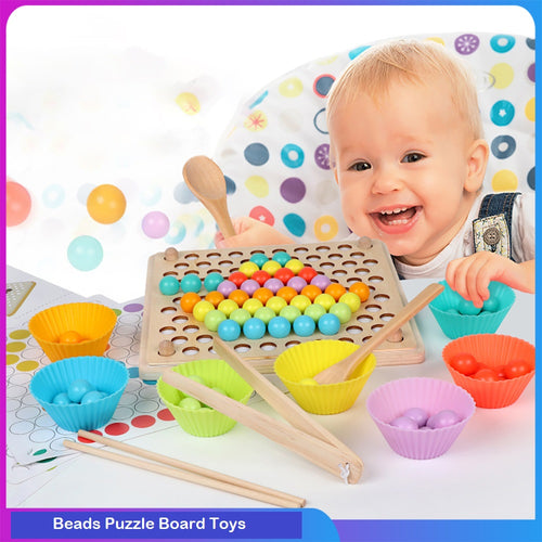 Beads Puzzle Board Toys