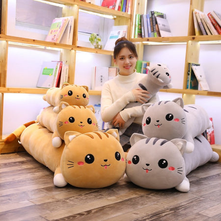 Long Cat Plush Pillows