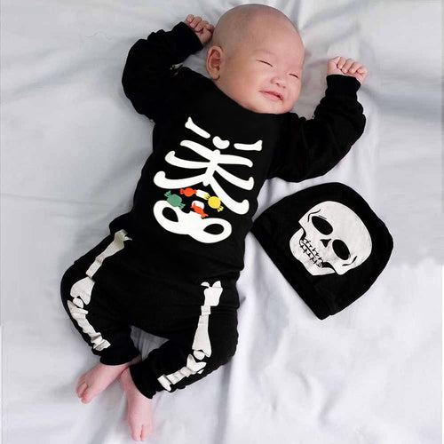 Skeleton Jumpsuit and Hat