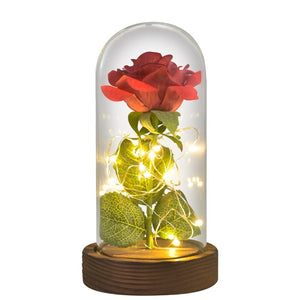 LED Rose in Glass Dome