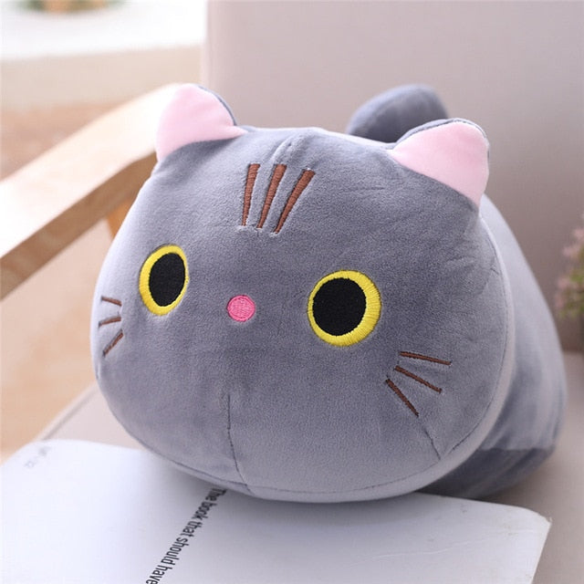 Soft Cat Plush Pillow
