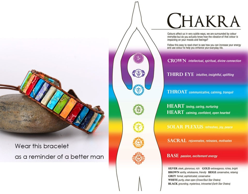 Handmade Positivity Chakra Bracelet & Earrings