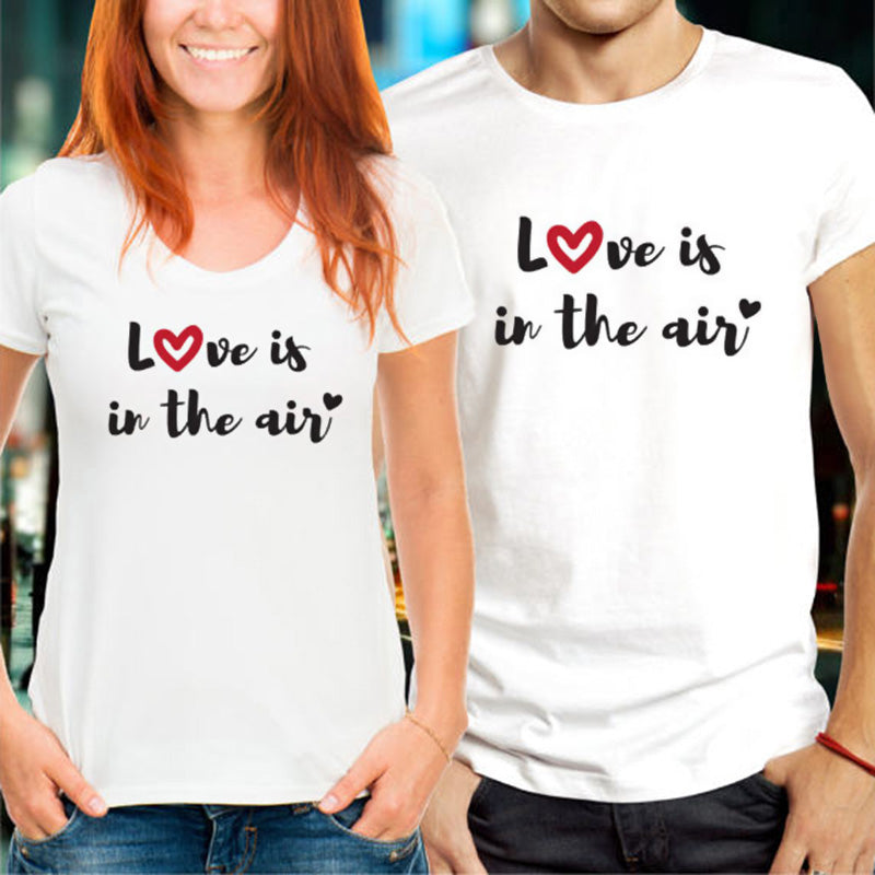 Love is in the Air Couple T-Shirts