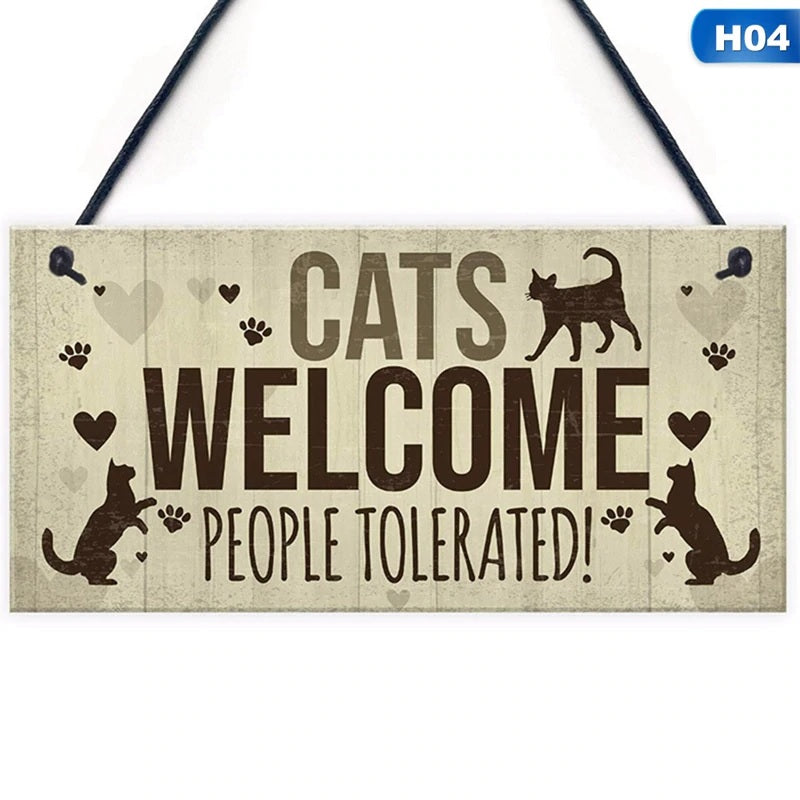 Funny Cat Lovers Plaque