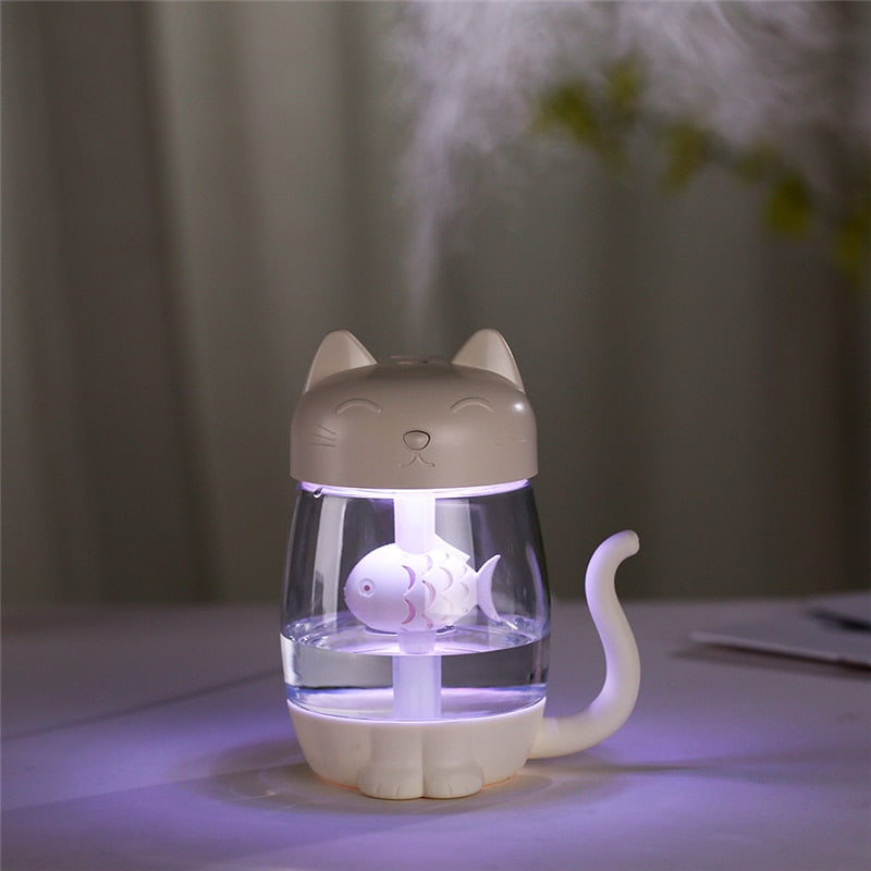 3 in 1 Cat Essential Oil Diffuser Humidifier