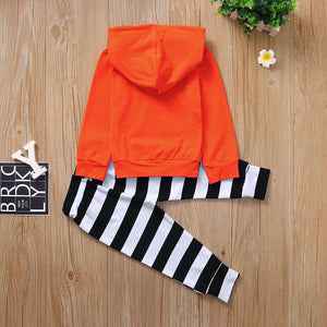 Hooded Top and Stripe Pants