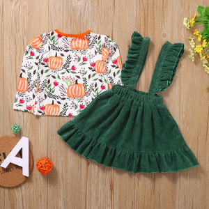 Pumpkin Tops with Suspender Skirts
