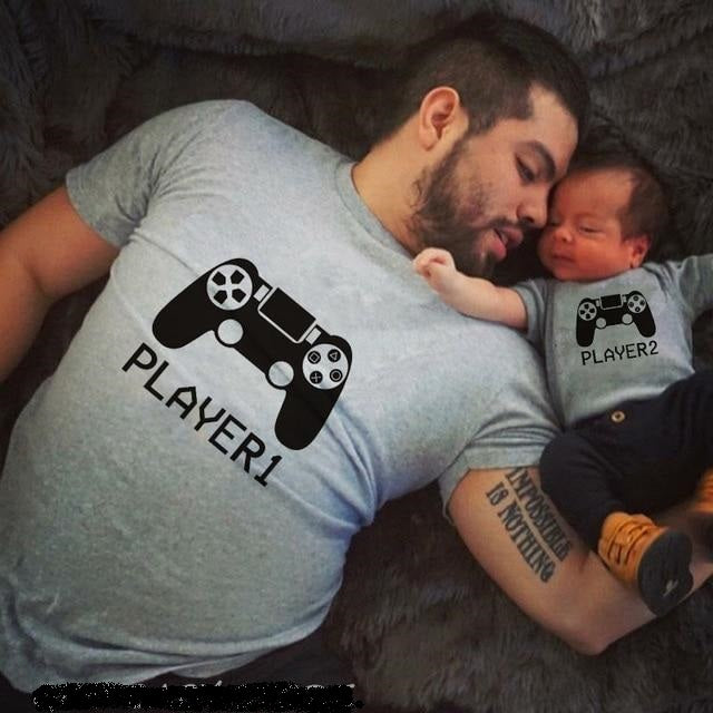 Player 1/2 Matching Daddy and Son Clothes