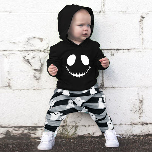 Skull Hoodie Tops and Pants