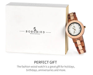 Women's Wooden Wristwatch