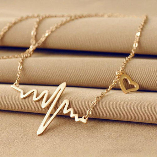 Minimalist Heartbeat Necklace