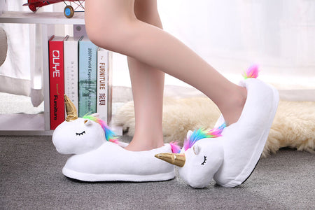 Cute Plush Unicorn Slippers