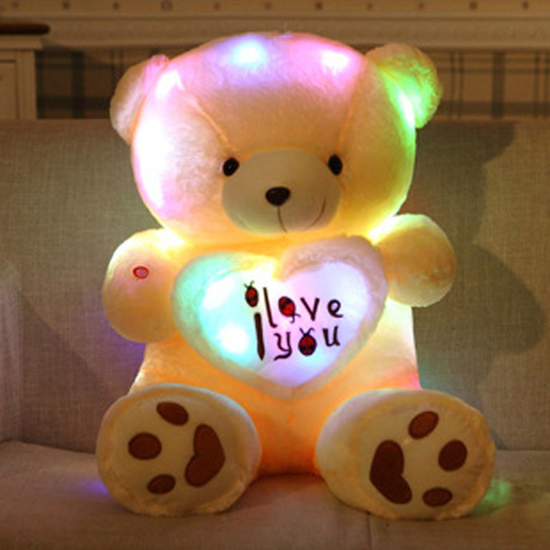 LED I Love You Teddy (50 CM)