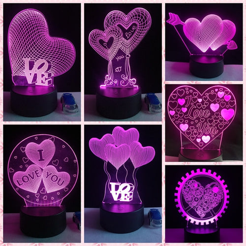 3D Color Changing LED Lamp