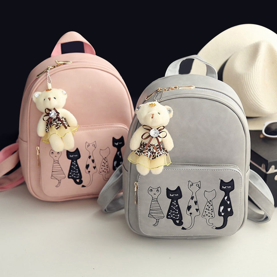 Cute Cats 4 in 1 Backpack Set