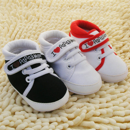 I Love Papa Mama Baby Shoes