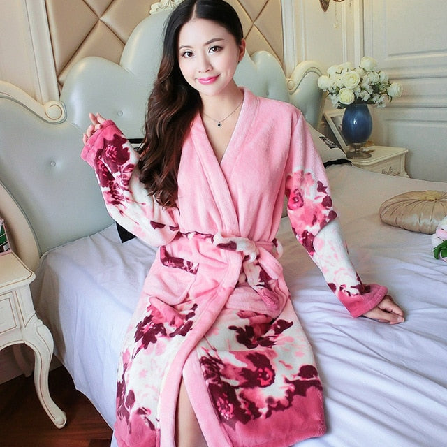 Lovely Women Flannel Robe
