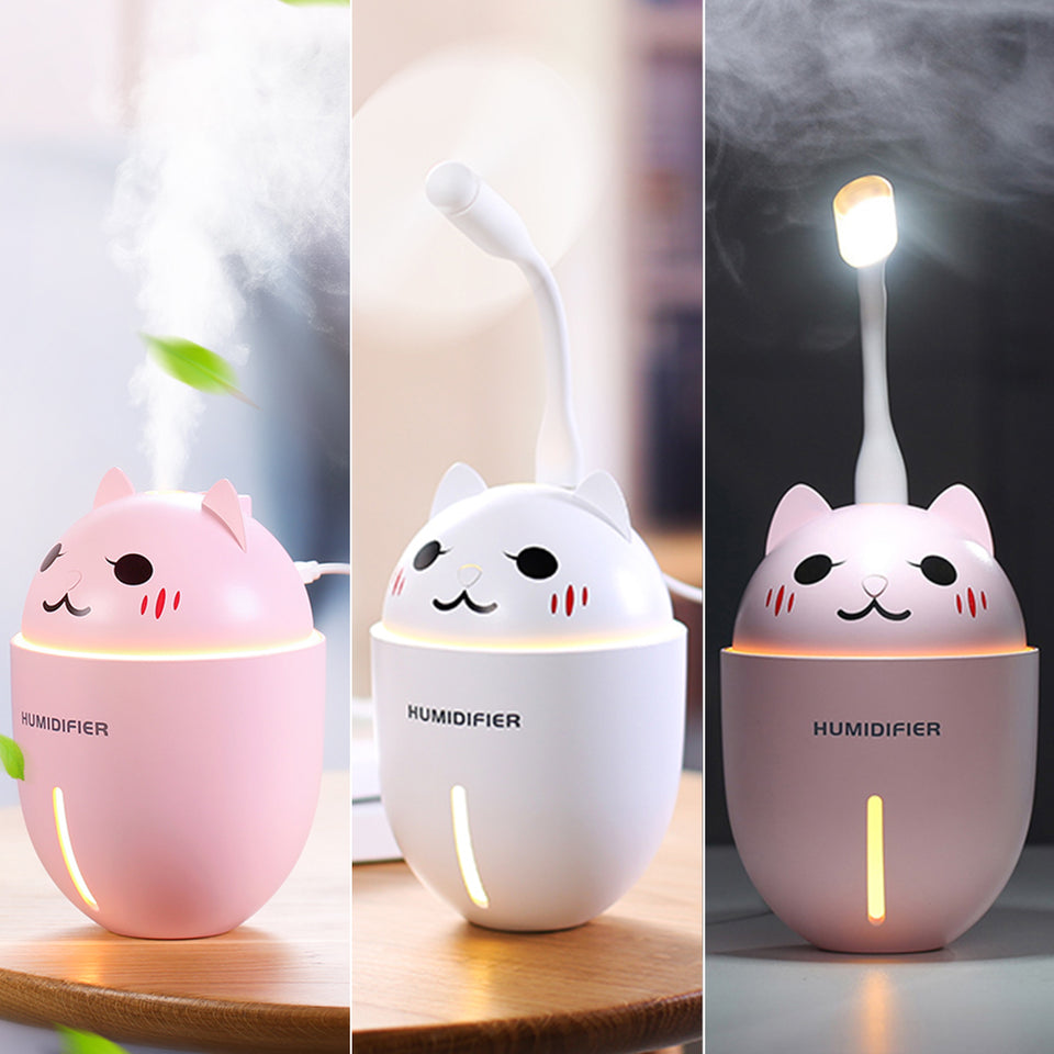 Mini Essential Oil Diffuser With Led Light and Mini Fan