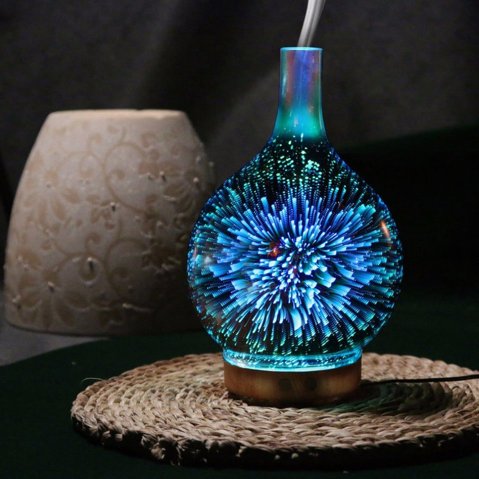 Essential Oil Diffuser with 3D Light Effect