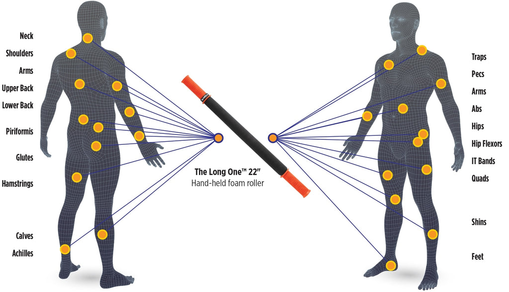 Tiger Tail Trigger Point Massage Stick 22 Body Chart