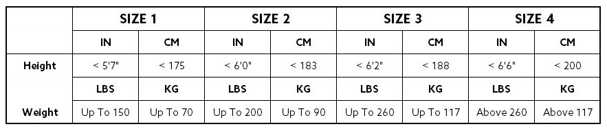 Aquilo Sports Recovery Pants Size Chart