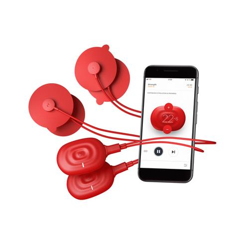 PowerDot 2.0 Duo Smart Muscle Stimulator in Red