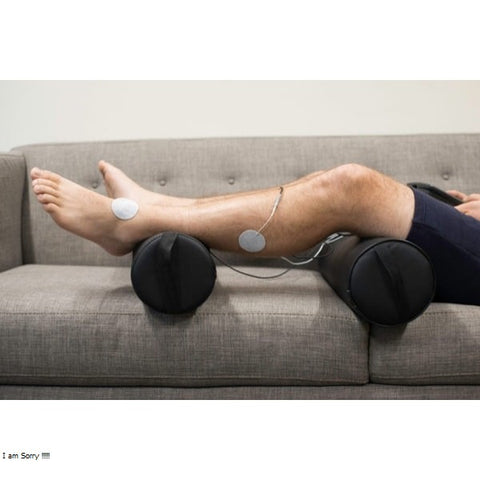 Marc Pro Electrical Muscle Stimulator being used on lower leg