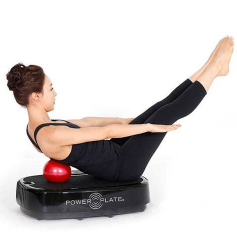 Power Plate Personal Vibration Platform with female user