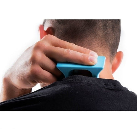 Pro-Mini Muscle Release and Self-Massage Tool being used on neck
