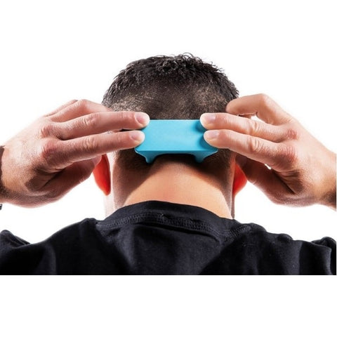 Pro-Mini Muscle Release and Self-Massage Tool being used on back of head
