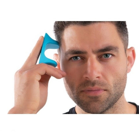 Pro-Mini Muscle Release and Self-Massage Tool being used on forehead