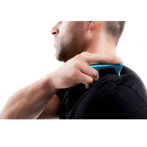 Pro-Mini Muscle Release and Self-Massage Tool being used on shoulder