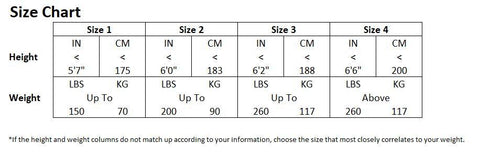 Aquilo Sports Cryo-Compression Recovery Pants System Size Chart