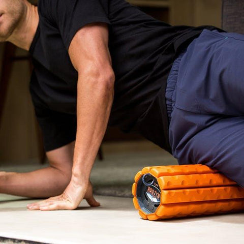 Brazyn Morph Collapsible Foam Roller in use