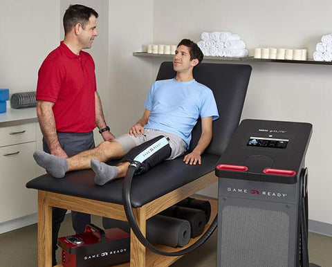 Game Ready Med4 Elite Multi Modality Contrast & Compression Therapy Unit in use