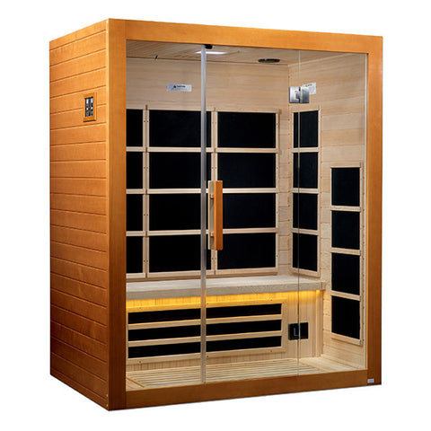 Golden Designs Marseille 3 Person Ultra Low EMF FAR Infrared Sauna