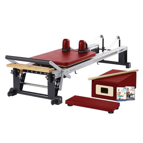 Merrithew Pilates At Home Pro Reformer Package dark cherry