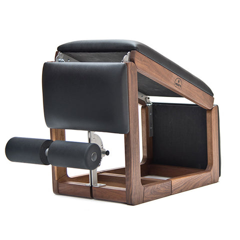 NOHrD TriaTrainer Exercise Bench walnut with black leather