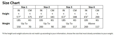 Aquilo Sports Cryo-Compression Recovery Pants sizing chart
