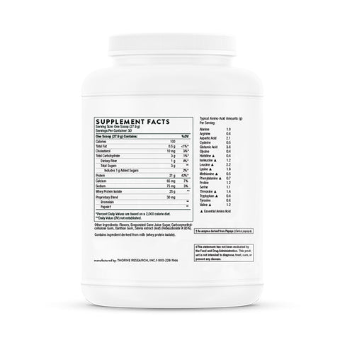 Thorne Whey Protein Isolate