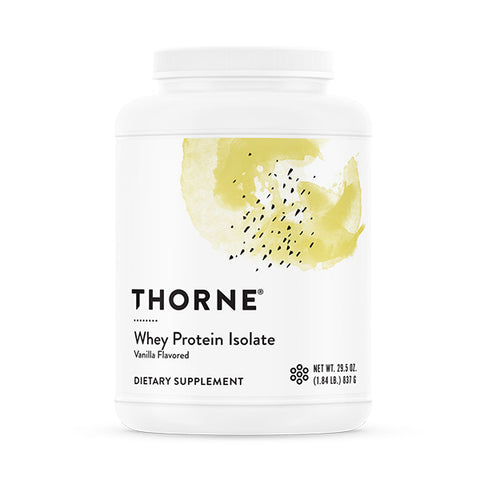 Thorne Whey Protein Isolate vanilla