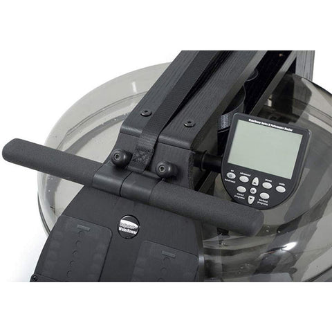 WaterRower All Black Rowing Machine with S4 Monitor handle
